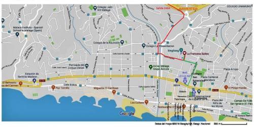 El Palo Google Coche bus vertical